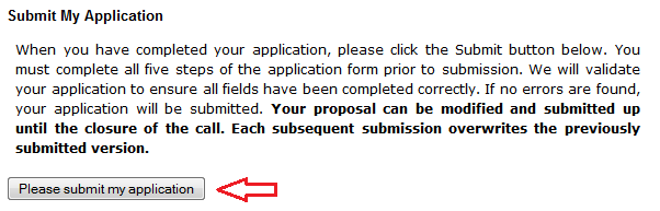 Applying online for a Special Exploratory Research Grant ...
